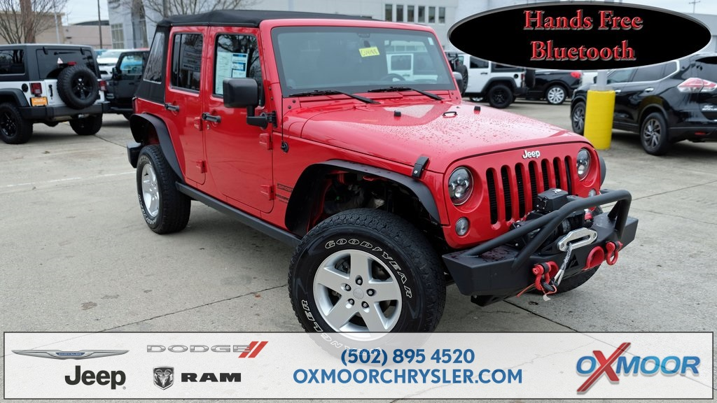 Jeep Wrangler Unlimited Sport >> Pre Owned 2014 Jeep Wrangler Unlimited Sport 4wd